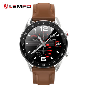 LEMFO Newest PPG + ECG Smart Watch Men Full Round Touch Screen Bluetooth Call Ip68 Waterproof