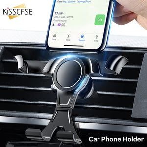 KISSCASE Universal Gravity Car Phone Holder For Mobile Phone In Car Air Vent Mount Stand For