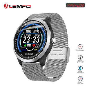 LEMFO 2019 New ECG + PPG Smart Watch Men IP67 Waterproof Sport Watch Heart Rate Monitor Blood