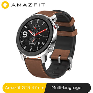 Global Version Amazfit GTR 47mm Smart Watch 5ATM Waterproof Smartwatch 24Days Battery Music