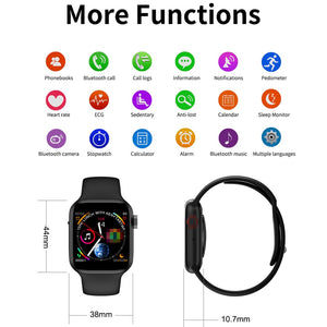 LEMFO Bluetooth Smart Watch Series 4 Heart Rate Monitor Smartwatch 44mm Case for android Apple Phone