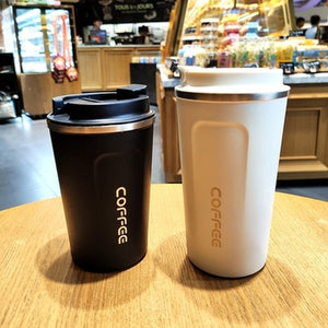 Double Stainless steel Coffee Mug Thickened Big Car Thermos Mug Travel Thermo Cup Thermosmug For