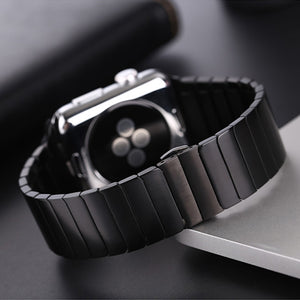 Stainless Steel strap for Apple Watch band 44 mm 40mm iWatch band 42mm/38mm Butterfly buckle Metal
