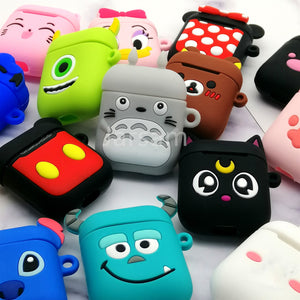 Cute Cartoon Wireless Earphone Case For Apple AirPods 2 Silicone Charging Headphones Case for