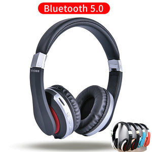 MH7 Wireless Headphones Bluetooth Headset Foldable Stereo Gaming Earphones With Microphone Support
