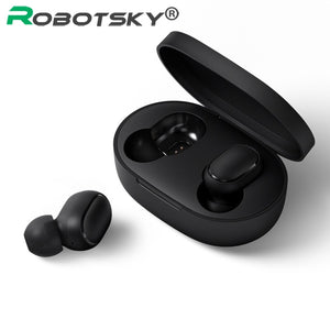 A6S Wireless Earphone Sports Earbuds Bluetooth 5.0 TWS Headsets Noise Cancelling Mic For iPhone