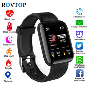 116 Plus Smart Watch Wristband Sports Fitness Blood Pressure Heart Rate Call Message Reminder