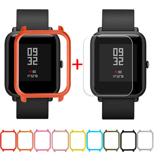 Screen Protector Slim Colorful Frame PC Case Cover Protect Shell For Huami Amazfit Bip Younth