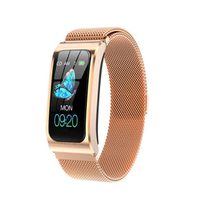 "AK12 women smart watch 1.14"" IP68 waterproof heart rate stopwatch alarm clock fitness tracker swim"