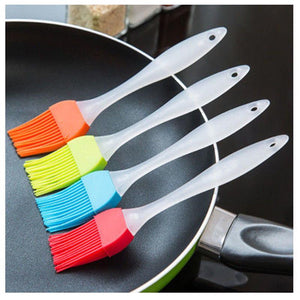 Silicone Baking Bakeware Bread Cook Brushes Pastry Oil BBQ Basting Brush Tool Color Random