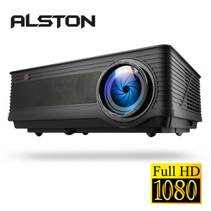 ALSTON M5 M5W Full HD 1080P Projector 4K 6500 Lumens Cinema Proyector Beamer Android WiFi