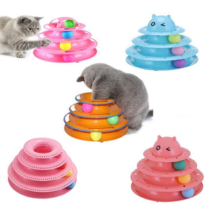 Funny Cat Pet Toy Cat Toys Intelligence Triple Play Disc Cat Toy Balls Cat Crazy Ball Disk