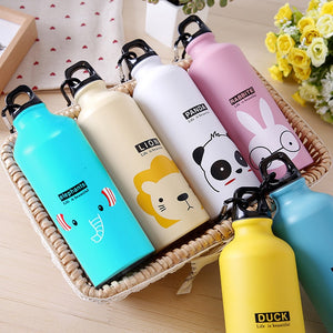 500ml Cute Water Blttle Lovely Animals Outdoor Portable Sports Cycling Camping Hiking Bicycle School