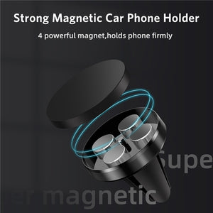 GTWIN Magnetic Car Phone Holder Mini Air Vent Clip Mount Magnet Mobile Stand For iPhone 11 Xiaomi