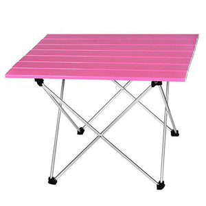 Portable Table Foldable Folding Camping Hiking Desk Traveling Outdoor Picnic New Blue Gray Pink