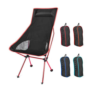 Portable Moon Chair Lightweight Fishing Camping BBQ Chairs Folding Extended Hiking Seat Garden