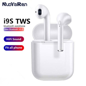 i9s tws Bluetooth 5.0 Earphone Mini Headphone Wireless Earbuds Sport Headset with Charging Box Mic