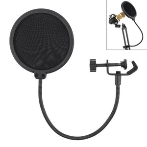 Double Layer Studio Microphone Flexible WindScreen Mask Mic Pop Filter Shield 100/155MM for Speaking