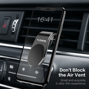 FLOVEME Magnetic Car Phone Holder For Phone in Car L Shape Air Vent Mount Stand Magnet Mobile Holder