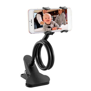 Universal Lazy Mobile Phone Gooseneck Stand Holder Stents Flexible Bed Desk Table Clip Bracket for