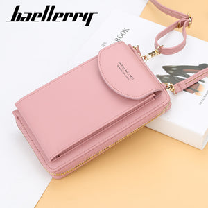 Baellerry 2019 Women Wallet Brand Cell Phone Wallet Big Card Holders Wallet Handbag Purse Clutch