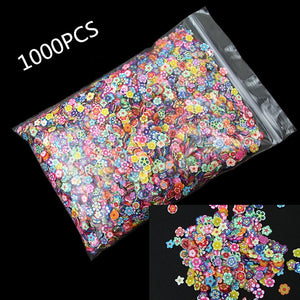 1000Pcs Polymer Clay Flower Crafts Flatback Scrapbooking For Embellishments Nail Stickers Art