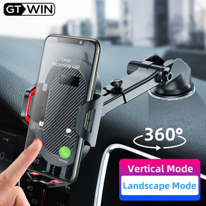 GTWIN Windshield Gravity Sucker Car Phone Holder For Phone Universal Mobile Support For iPhone