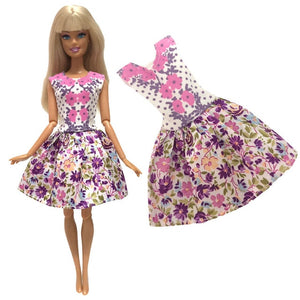 1x Doll Dress For Barbie Doll Fashion Skirt Dollhouse Clothes DIY Accessories Girls' Gift Baby