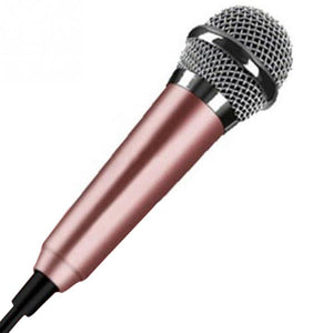 Portable 3.5mm Stereo Studio Mic KTV Karaoke Mini Microphone For Cell Phone  Laptop PC Desktop