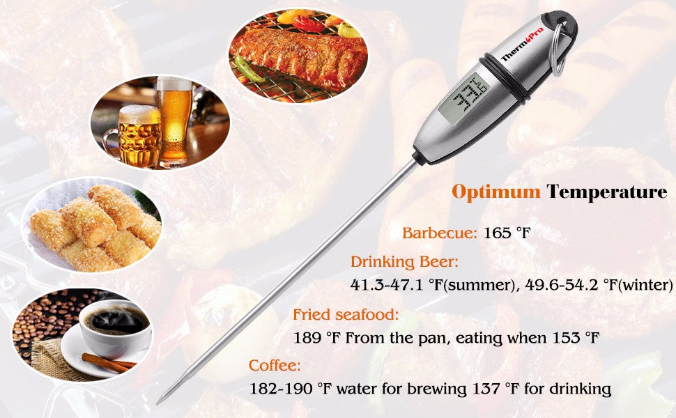 Thermopro TP-02S Meat Thermometer Kitchen Digital Cooking Food Meat Probe Electronic BBQ Household