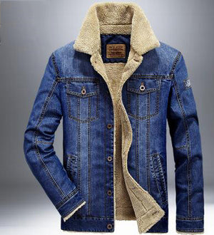 men jacket and coats brand clothing denim jacket Fashion mens jeans jacket thick warm winter outwear