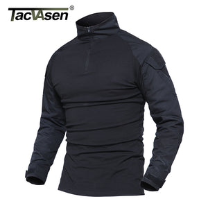 TACVASEN Male Camouflage T-shirts Army Combat Tactical T Shirt Military Men Long Sleeve T-Shirt Hunt T-shirts
