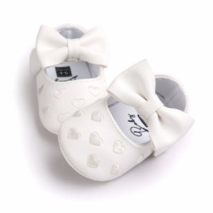 Big Bow Embroidery Love Soft Bottom Kids ShoesNon-slip Baby Shoes Prewalkers Boots Newborn Babies