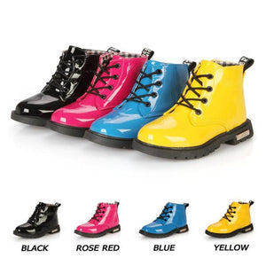 Children's shoes autumn and winter children Korean version of Martin boots leather waterproof boots