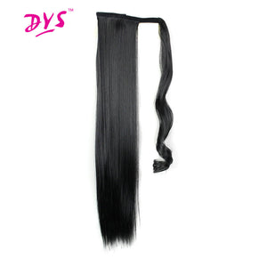 Deyngs 60cm Long Straight Clip In Hair Tail False Hair Ponytail Hairpiece With Hairpins Synthetic