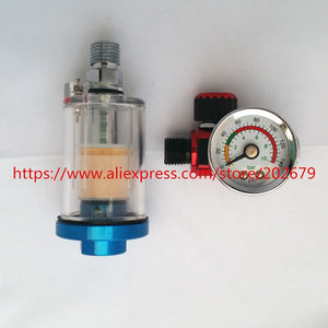 Scratch Spray Gun Air Regulator Gauge & In-line Water Trap Filter Tool spray gun regulator and