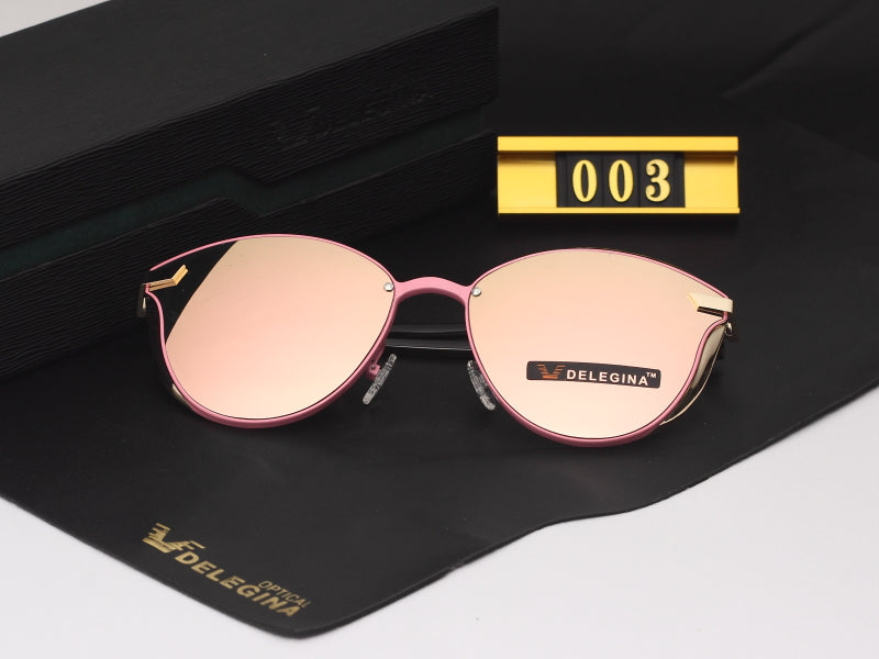 8ce948d6de6c DELEGINA Fashion Female Polarized Sunglasses Women Cat Eye Glases Ladies  Sun Glasses Mirror With box oculos