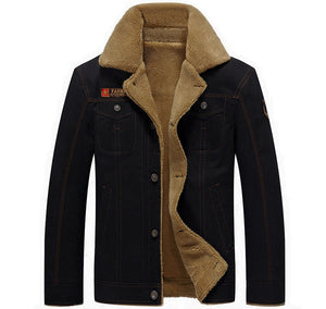 Thicken Fleece Winter Jackets Men's Coats 5XL Cotton Fur Collar Men's Jackets Military Casual Male
