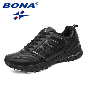 BONA New Style Men Running Shoes Ourdoor Jogging Trekking Sneakers Lace Up Athletic Shoes Comfortable Light Soft