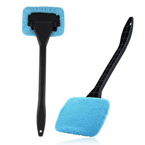 1pc Microfiber Auto Window Cleaner Long Handle Car Washable Brush Car Window Windshield Wiper Cleaner Cloth Clean Tools