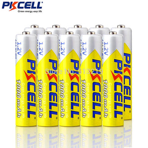 10PCS PKCELL 1.2v NIMH AAA Battery 3A 1000mah Rechargeable Battery aaa ni-mh batteries AAA battery
