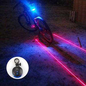 Bike Light Bicycle rear back LED Light 2 Lasers Night Cycling Bike Saddle Safety MTB Road Rear