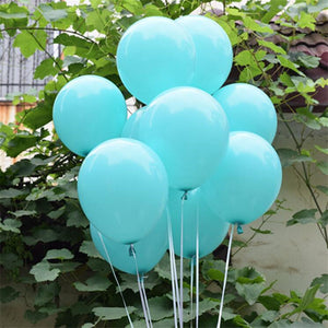 50PCS Wedding Decoration Balloons 10inch 1.5g Tiffany Blue Latex Ballon Happy Birthday Party Balloon Inflatable Helium Air Balls