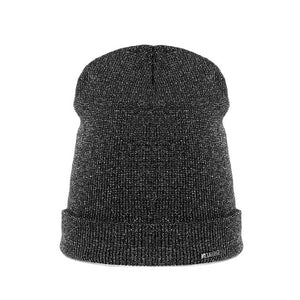 New shine gold silver hat Autumn Winter turban beanie Hat For Warm Women Casual Knitted Hat Female