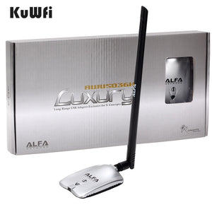 AWUS036NH LUXURY ALFA Adapter Network Ralink3070L 2.4Ghz High Power Wireless USB Wifi Adapter 2*8dBi
