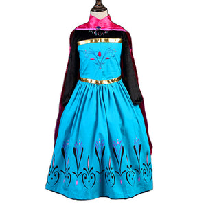 Baby Girls Dress Christmas Anna Elsa Cosplay Costume Summer Dresses Girl Princess Elsa Dress for