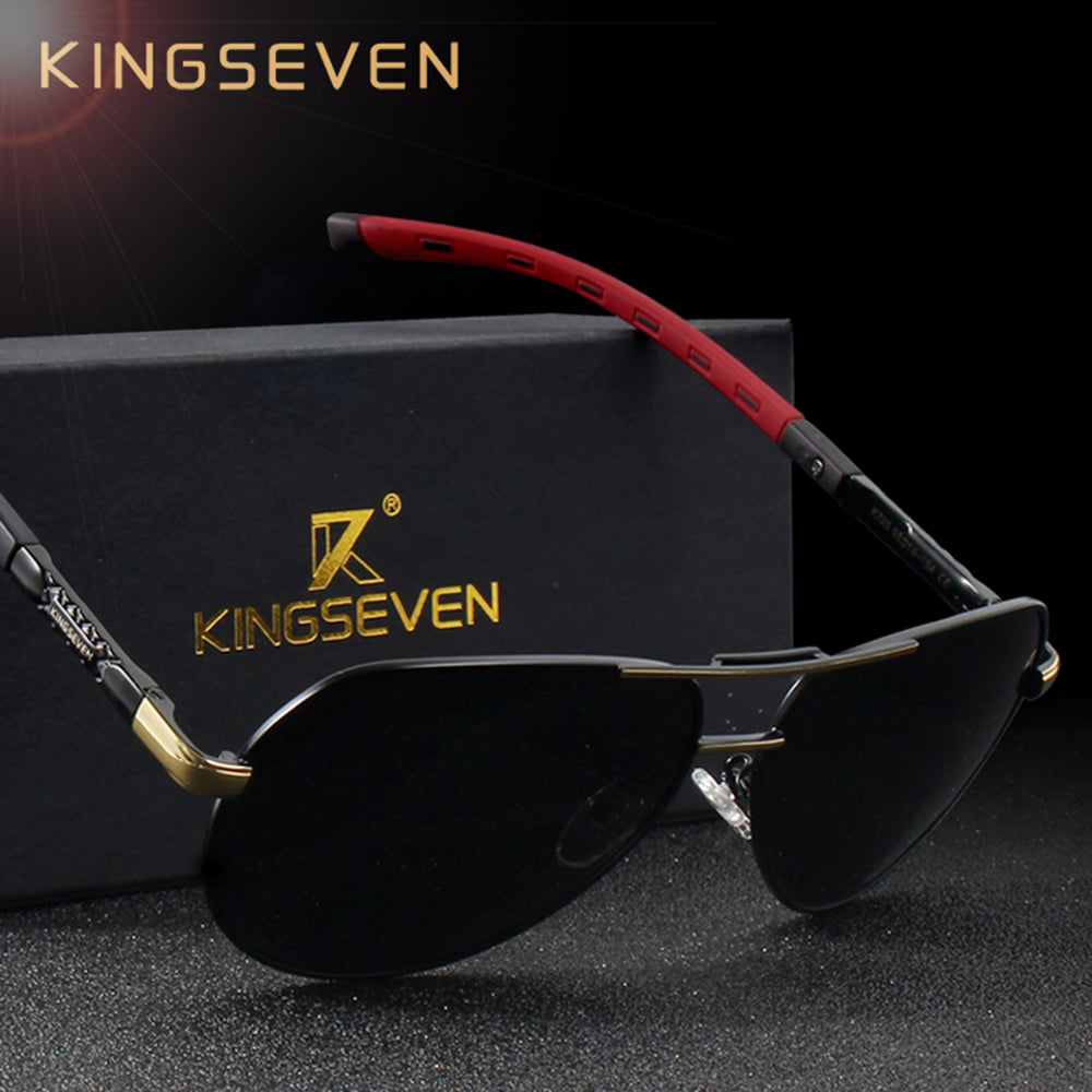 80a869c410 KINGSEVEN Men Vintage Aluminum HD Polarized Sunglasses Classic Brand Sun  glasses Coating Lens Driving Shades For