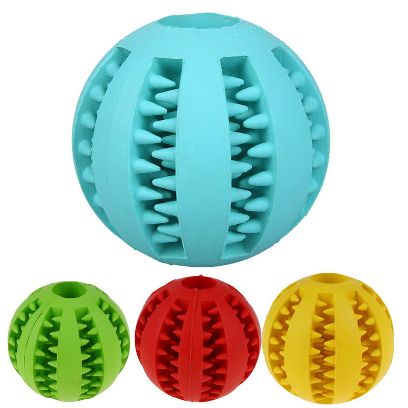 Dog Toy Interactive Rubber Balls Pet Dog Cat Puppy Chew Toys Ball Teeth Chew Toys Tooth Cleaning