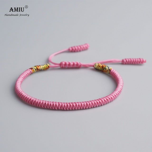 f25e62e0cf AMIU 19 Colors Tibetan Buddhist Love Lucky Charm Tibetan Bracelets   Bangles  For Women Men Handmade