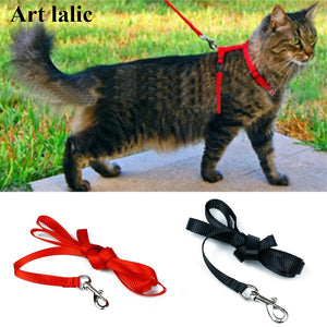 Cat Harness And Leash Hot Sale 3 Colors Nylon Products For Animals Adjustable Pet Traction Harness